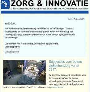 Nieuwsbrief zorginnovatie guusschrijvers.nl