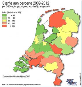 Waarom sterven er meer mensen aan een beroerte in Friesland dan in Groningen?