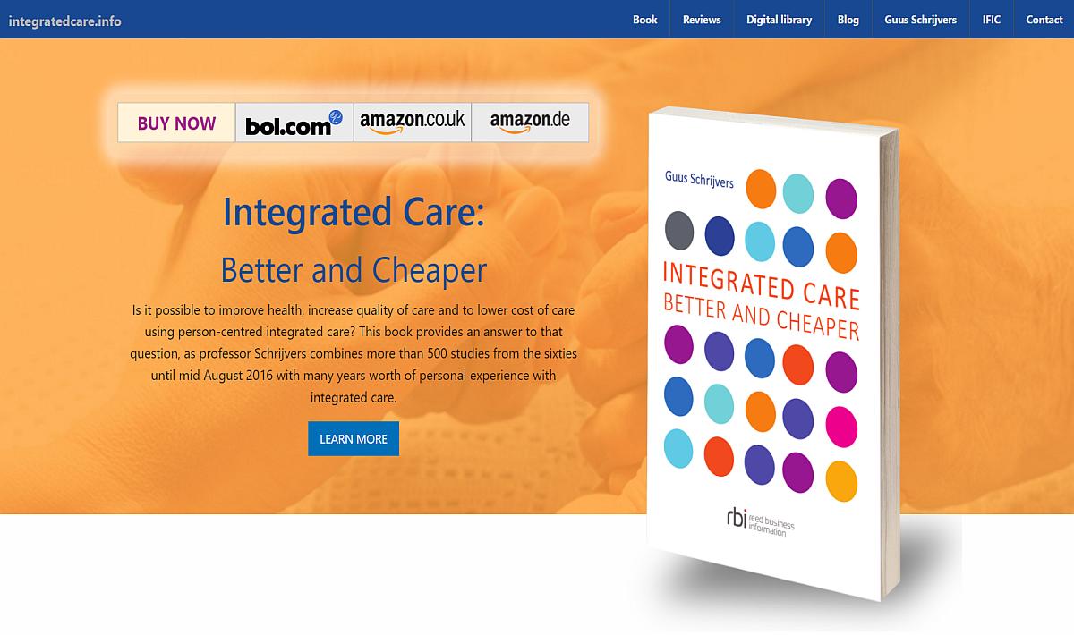 23 november heb ik mijn nieuwe boek gepresenteerd op het het vierde World Congress on Integrated Care in Nieuw Zeeland: Integrated Care: better and cheaper. De kernboodschap: geïntegreerde zorg verbetert gezondheid, verhoogt kwaliteit van zorg en verlaagt de kosten daarvan.