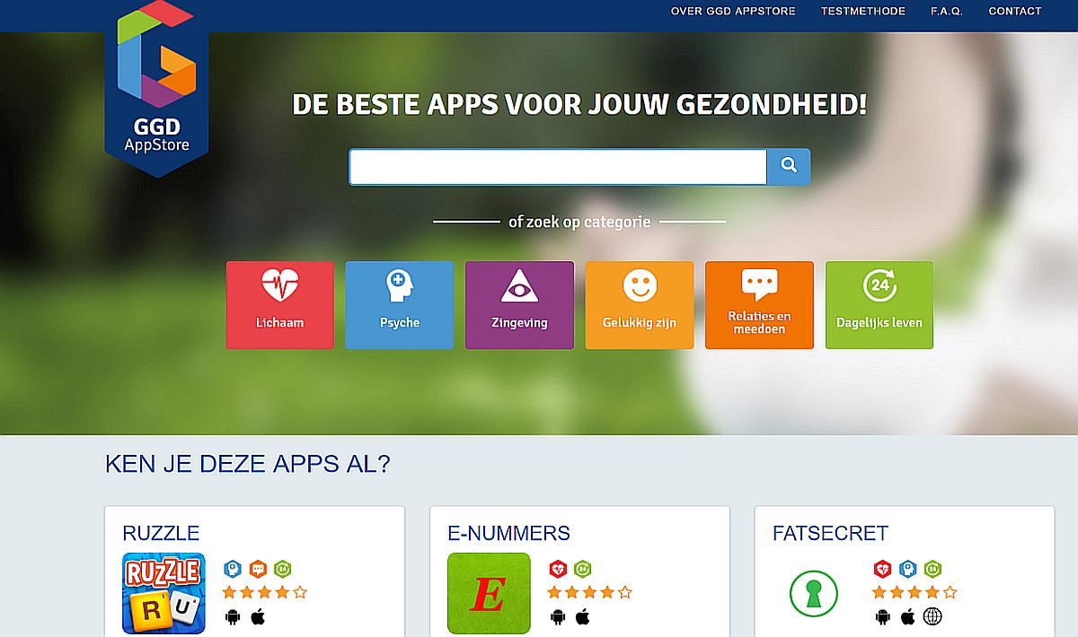 GGD GHOR Nederland heeft een webwinkel waar een groot aantal publieke gezondheidsapps, die door deskundigen beoordeeld zijn, gedownload kunnen worden.